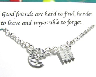 Friendship necklace | Best Friend Necklace |A5Silver Video Game| Best Friend Gift| Birthday Gift|Dainty Necklace