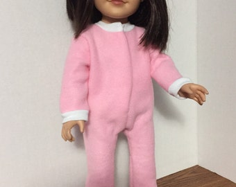 18 inch doll clothes ag doll pajamas American made doll footed pajamas blanket sleeper