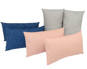 "Coussin ""Lorenza"" Midnight-Petal-Pebble"