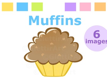 Muffin clipart for personal and commercial use, digital clipart, instant download, scrapbooking, printable
