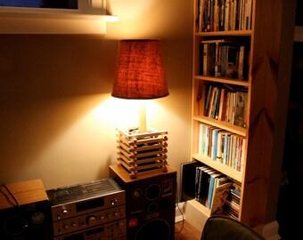 Wood and Stone Cribbing Lamp