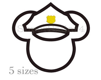 Mouse Police Applique design, Mickey applique design, Police applique design, Mickey Police applique