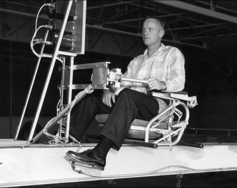 24x36 Poster . Neil Armstrong At Controls Simulation Of X-15 1956