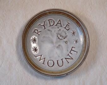 Rydal Mount Mini Plate or Teabag Holder William Wordsworth Home Rye Pottery England