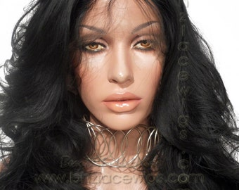 LOOKS like a SEW-IN weave! The Sew-In lace front wig Loose curl lace front wig lace wig Kim Kardashian lace front wig drag lace wig