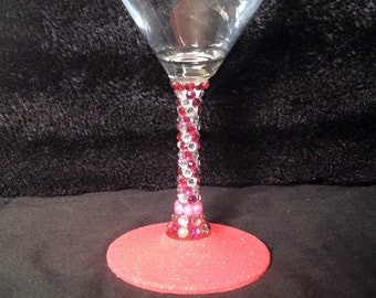 Sparkle martini glass