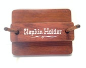 Dark Wood/Wooden Vintage Rustic Kitchen Napkin Holder.Rustic Farmhouse Decor.Storage