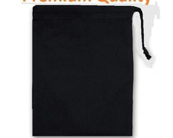 8x10 BLACK DRAWSTRING BAGS  qty -100 , Special Listing