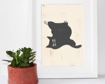 Fat Samps Cat Print