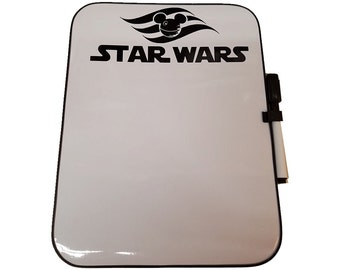 Star Wars Day at Sea Disney Fantasy Dry Erase Board with Marker and Magnetic Back Fish Extender FE Disney Cruise DCL Mickey