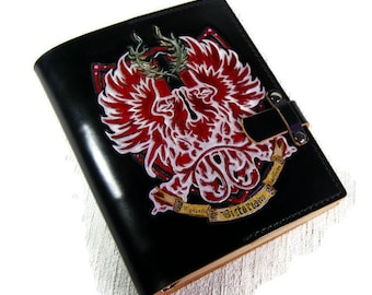 Medieval Cosplay Leather Journal Handmade Leather Journal Family Crest Journal Notebook Diary Custom Leather Journal Personalized Journal