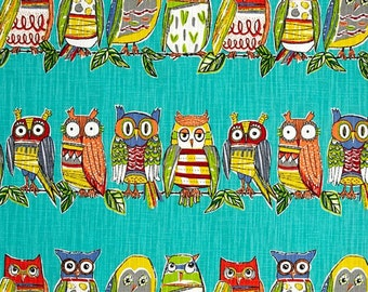 Owl Valance / Custom Boutique Curtain for Kitchen, Bathroom, Laundry, Bedroom, living room - Window Treatment