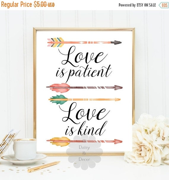 Love Is Patient Love Is Kind Quote: Love Is Patient Love Is Kind Quote Printable Wall By