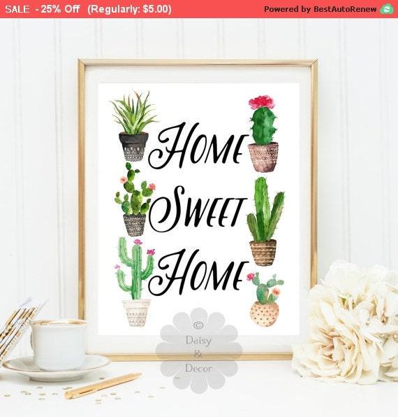 home sweet home quote art print wall decor printable wall