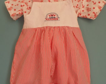 Vintage 1980s Baby Boys Summer two piece set