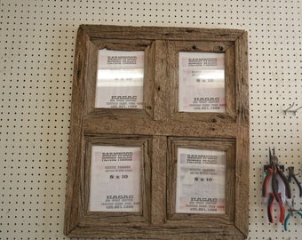 Rustic Barnwood 8 X 10 Window Collage Barn Wood Picture Frame