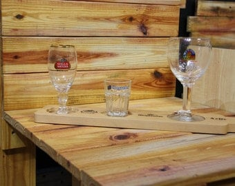 Stella Artois Hoegaarden and Leffe Beer Flight With or Without Glasses