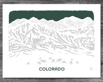 Colorado Horizon Screen Printed Poster