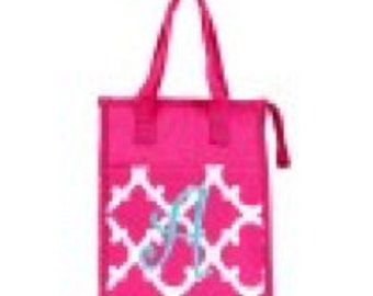 Quatrefoil Lunch Tote Bag - Pink