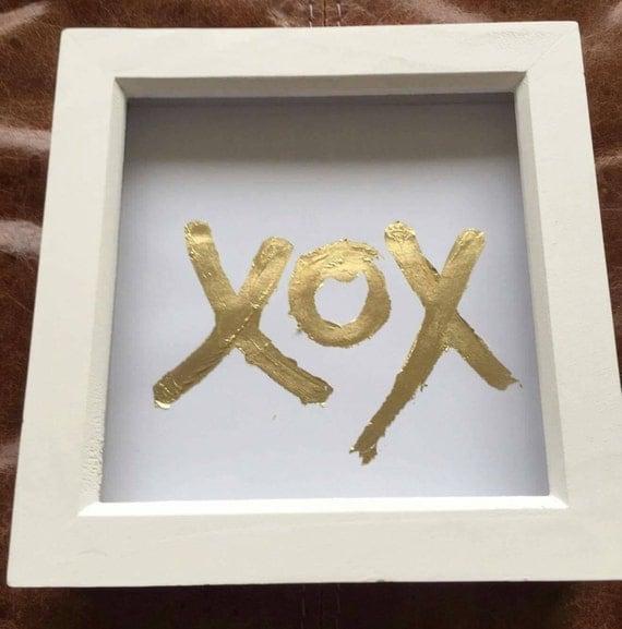 Gold leaf XOX Gift Frame