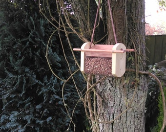 Large Hanging Bird Feeder Made From Wood