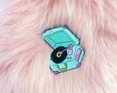 Phonograph Enamel Pin