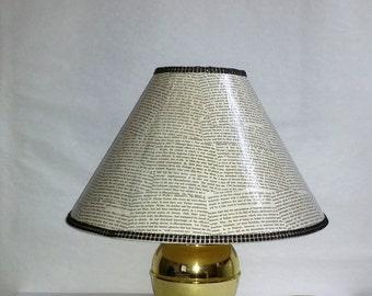 Lamp Shade Black and White with Rhinestones Decoupaged,Black and White,Decoupage,Book Lover Gift,Book,White and Black,Lamp Shade,Lighting