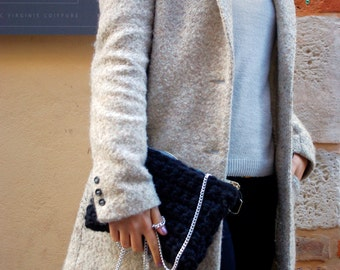 Wool pouch bag