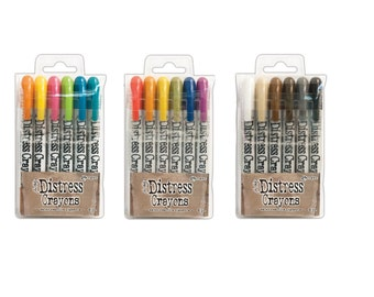 Ranger Tim Holtz Distress Crayons 3 Sets ***Free Shipping***
