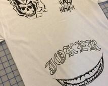 Suicide Squad Joker Front Tattoo Shirt Mens