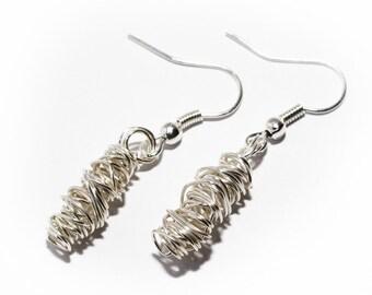 Tornado wire wrap earrings