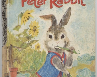 Peter Rabbit / Little Golden Book / By Beatrix Potter / Pictures by Adriana Mazza Saviozzi / 9th Printing-1975
