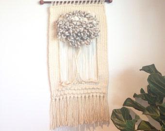 Vintage wool fibre art