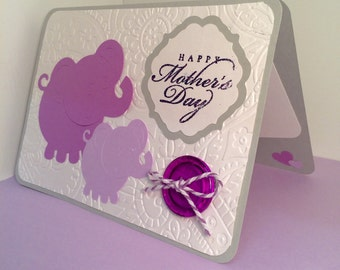 mother's day mom elephants card