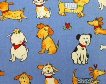 Placemats & coasters.Cute puppies. Set of 8. Sturdy cotton fabric. Fully washable. Pretty, fun and practical.