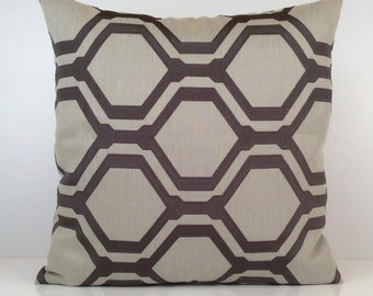 Light and Dark Grey Pillow, Throw Pillow Cover, Decorative Pillow Cover, Cushion Cover, Pillowcase, Toss, Cotton Blend, Geometric Pattern