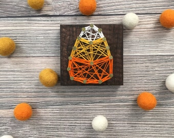 String Art - Halloween String Art - Mini String Art - Nail and String Art - Mantle Decor - Holiday Decor
