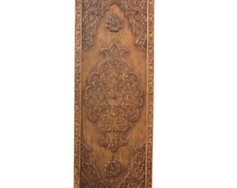 50% Off-Floral Medallion Panel, Old Teak Carved Panel, Decorative Headboard, Indian Wood Panel, Floral Headboard Panel, Boho Headboard