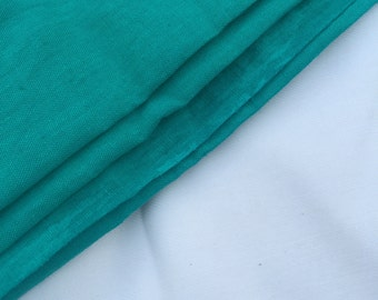"""60"""" Turquoise Green Rayon Linen Blend Woven Fabric By the Yard"""