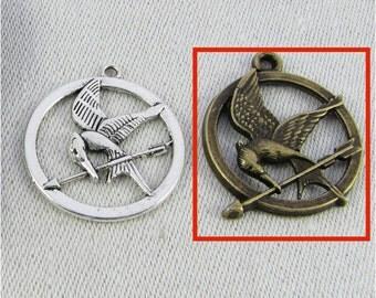Set of (8) Bronze Hunger Games, Mockingjay Pendant, 8 per package SFF062BZ
