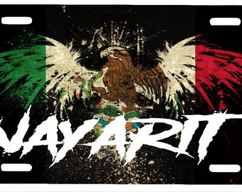 "Nayarit Mexico Aluminum License Plate Placa  6"" x 12"""