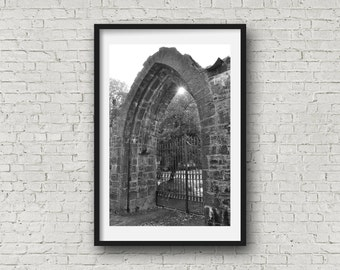 The Ruin Gate - Black & White photograph