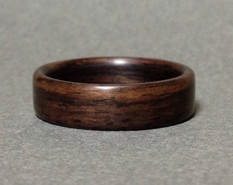 Rosewood Bentwood Ring, Wood Ring for Men, Woman's Wood Ring