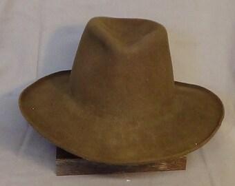 Fedorado Felt Hat, men's felt hat, old felt hat,old cowboy hat,