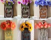 Mason Jar Flower String Art