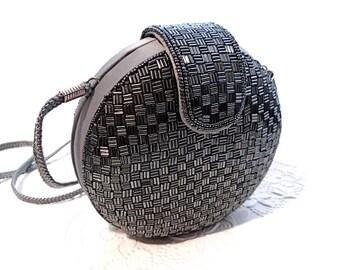Vintage Beaded Handbag Grey Beaded Purse Women's Accessories Evening Bags VP-232