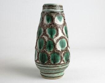 Vintage ceramic vase by Strehla, 70s, German Pottery, Mid Century, modernist