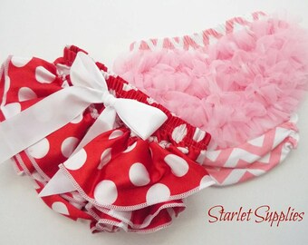 Red Polka Dot Bloomers, Diaper Covers, Supply Lot