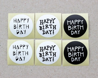 "Sticker set ""Happy Birthday"""