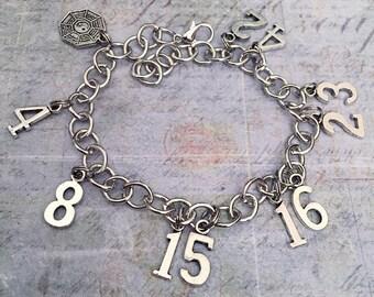 Lost TV Show Numbers Charm Bracelet - Fandom Jewelry - Fandom Bracelet - Dharma Jewelry